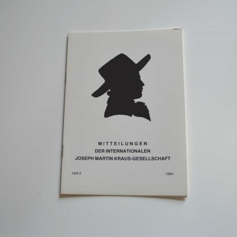 Mitteilungen der Internationalen Joseph Martin Kraus-Gesellschaft Heft 2