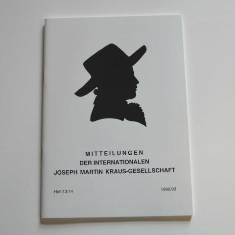 Mitteilungen der Internationalen Joseph Martin Kraus-Gesellschaft Heft 13/14