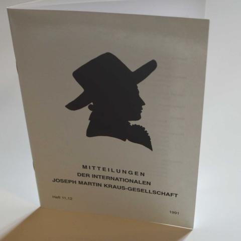 Mitteilungen der Internationalen Joseph Martin Kraus-Gesellschaft Heft 11/12