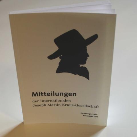 Mitteilungen der Internationalen Joseph Martin Kraus-Gesellschaft Neue Folge Heft 1