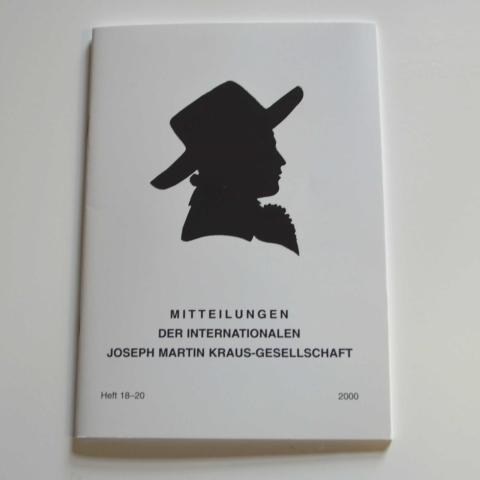 Mitteilungen der Internationalen Joseph Martin Kraus-Gesellschaft Heft 18-20