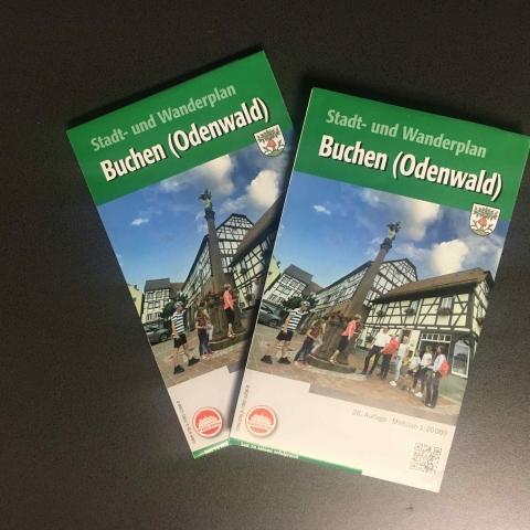 Stadt- und Wanderplan Buchen (Odenwald)