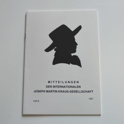 Mitteilungen der Internationalen Joseph Martin Kraus-Gesellschaft Heft 8