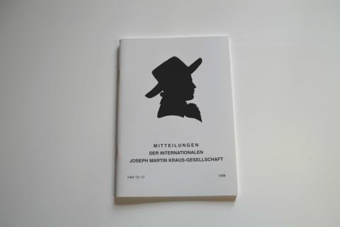Mitteilungen der Internationalen Joseph Martin Kraus-Gesellschaft Heft 15-17