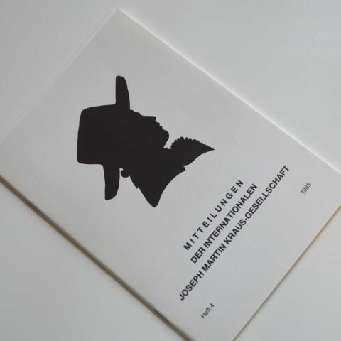 Mitteilungen der Internationalen Joseph Martin Kraus-Gesellschaft Heft 4